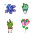 set of garden and nature pixelated icons vector image vector image