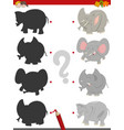 shadow activity with elephants vector image vector image