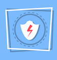 shield icon data protection web button vector image vector image