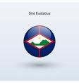 Sint Eustatius round flag vector image vector image