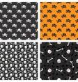 Skulls seamless patterns set vector image vector image