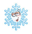 SnowFlake Emoticon Hey You vector image vector image