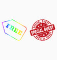 spectrum dot free tag icon and scratched vector image vector image