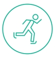 Speed skating line icon vector image vector image