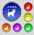 Taurus icon sign Round symbol on bright colourful vector image vector image