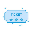 ticket icon design vector image