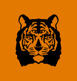 tiger face flat style front vector image vector image