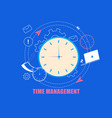 time management flat cartoon vector image vector image