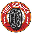 tire service label vector image vector image