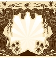 tree with lianas monochrome vector image vector image