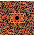 Tribal seamless design in orange color Seamless vector image vector image