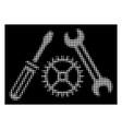 white halftone tuning service icon vector image