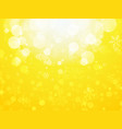 white yellow abstract christmas background with vector image vector image