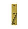 wood letter I vector image vector image