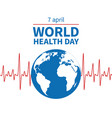 world health day concept wellness medical vector image vector image