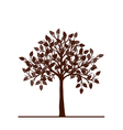 abstract brown tree vector image vector image
