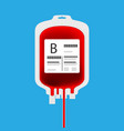 b plastic blood bag isolated with full of blood in vector image vector image