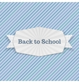 Back to School Text on festive Emblem with Ribbon vector image