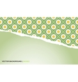 background with torn paper and camomiles vector image