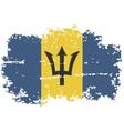 Barbados grunge flag vector image vector image