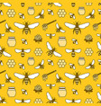 beekeeping colored seamless pattern apiculture vector image vector image