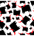Black bull with red horns seamless pattern vector image vector image