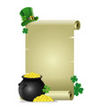 blank paper for text of saint patricks day concept vector image