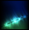 blue-green diagonal wave abstract equalizer vector image vector image
