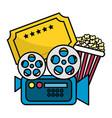 cinema icon set design vector image