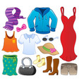 clothes theme collection 1 vector image