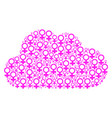 cloud composition of venus symbol icons vector image vector image