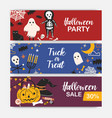 collection horizontal holiday web banner vector image