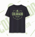 colorado state graphic t-shirt design typography vector image vector image