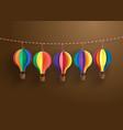 colorful hot air balloon vector image vector image