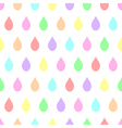 Colorful Pastel Rain White Background vector image vector image