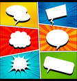 comic book template vector image vector image