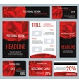 corporate identity red polygonal banners vector image vector image
