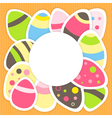 Easter eggs pattern on a orange vector image vector image