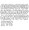 element design hand drawn doodle font set of vector image vector image
