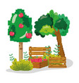 farm pixelated cartoons
