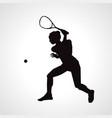 female squash silhouette squash player vector image vector image