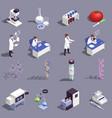 genetic engineering icons set vector image