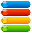 glossy buttons banners rounded rectangle shapes vector image