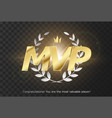 gold inscription mvp vector image vector image