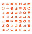 graph icons vector image vector image