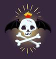 halloween skull and bones design pic vector image