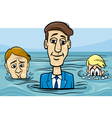 head above water saying cartoon vector image vector image