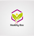 healthy box logo icon element and template vector image vector image