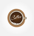 hot coffee cup logo sign symbol icon vector image