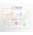 Infographic timeline report template with lines vector image vector image